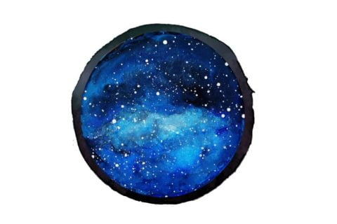 circle starry night