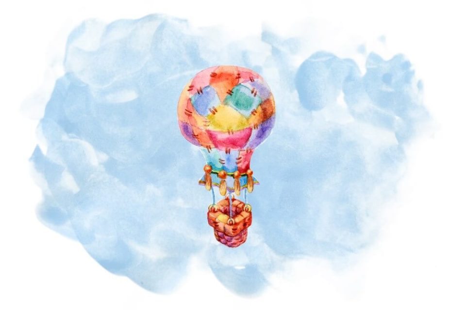 patchwork hot air baloon