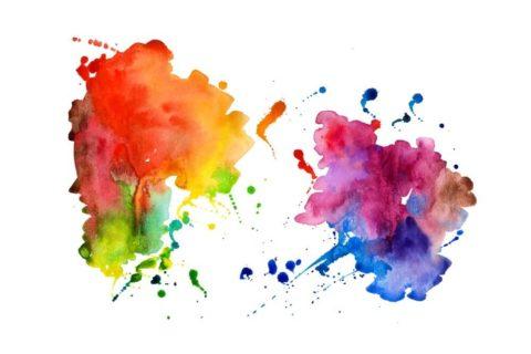 multicolored paint splots